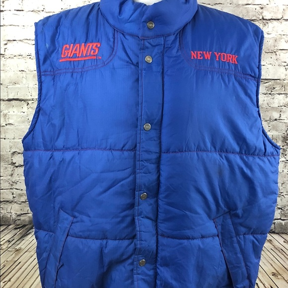 cheap for discount d10d0 a6b1c Vintage New York Giants Puffer Vest NFL Gameday